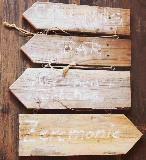 Holzschilder Set