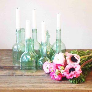 Kerzenleuchter Flaschen Set